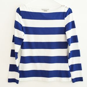 H&M Blue Striped Tee